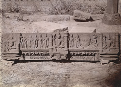 Carved slab from the Mahadeva Temple, Baijnath, Shahabad District. 1003435